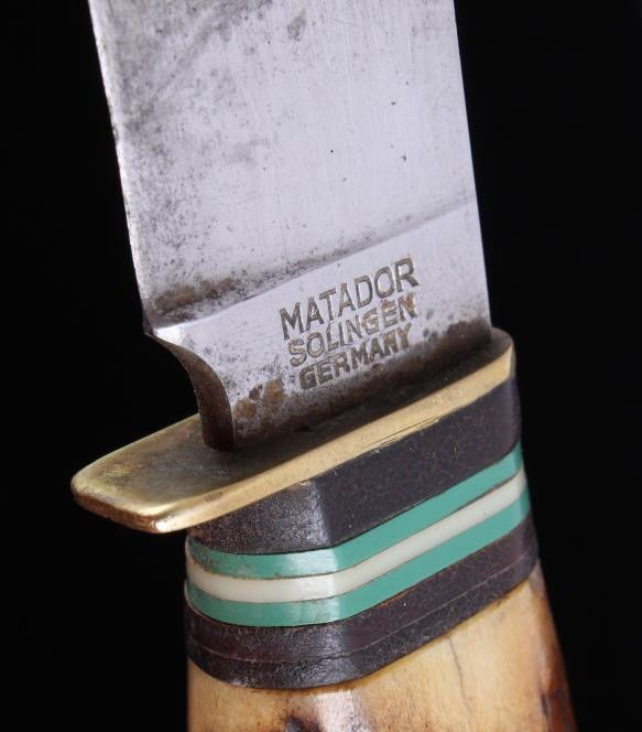 Antique Matador Solingen Knife with Stag Handle Th - 7