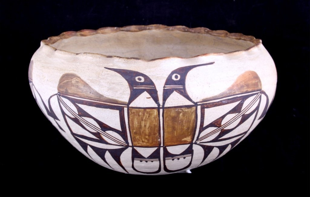 Acoma Pottery Bowl circa 1880-1910 The lot feature
