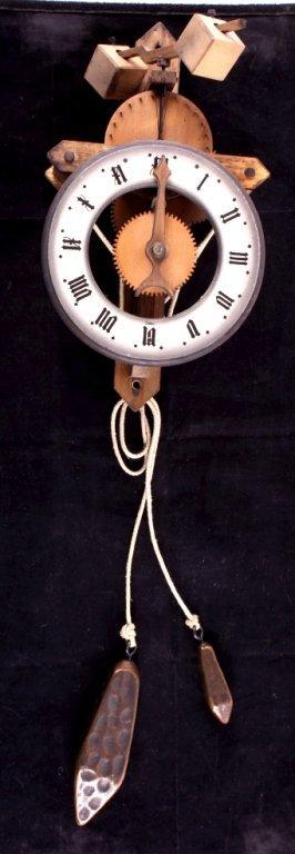 Swiss Baumann Wood Gear Clock This is a Swiss made