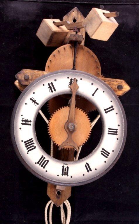 Swiss Baumann Wood Gear Clock This is a Swiss made - 2