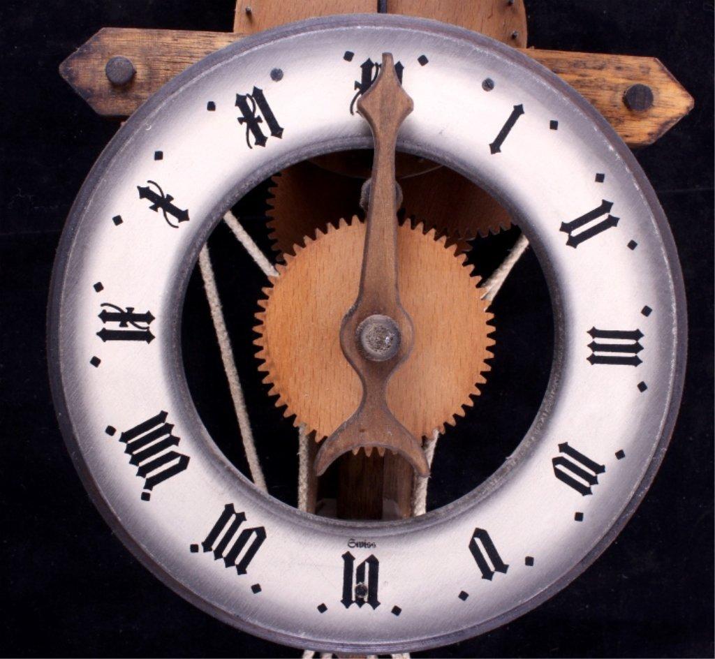 Swiss Baumann Wood Gear Clock This is a Swiss made - 3