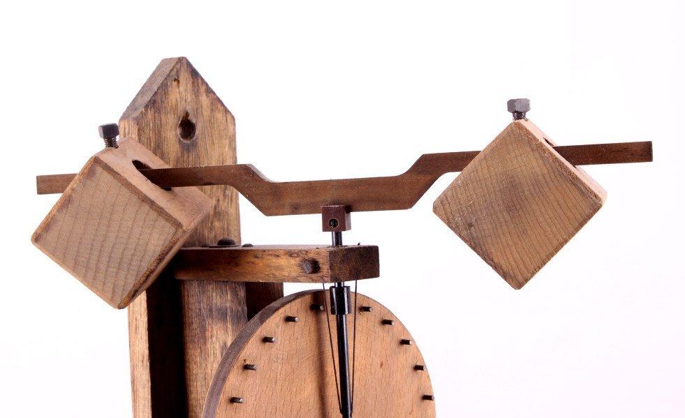 Swiss Baumann Wood Gear Clock This is a Swiss made - 4