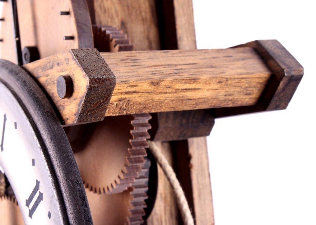 Swiss Baumann Wood Gear Clock This is a Swiss made - 5