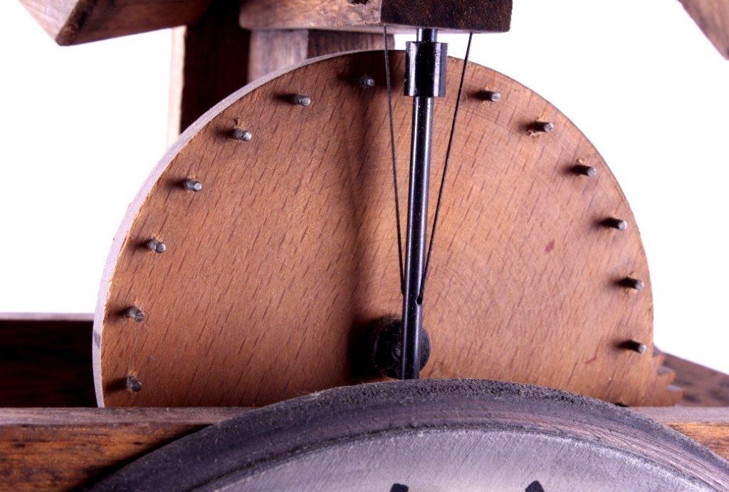 Swiss Baumann Wood Gear Clock This is a Swiss made - 6