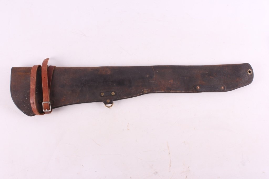 Antique Leather Lever Action Rifle Scabbard This i