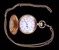 Elgin 14k Gold Pocket Watch circa 1896