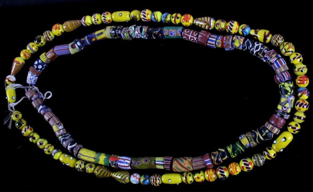 Antique Venetian Millefiori Indian Trade Beads