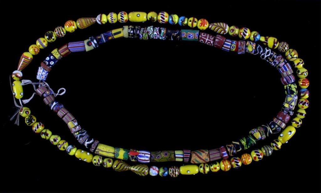 Antique Venetian Millefiori Indian Trade Beads - 2