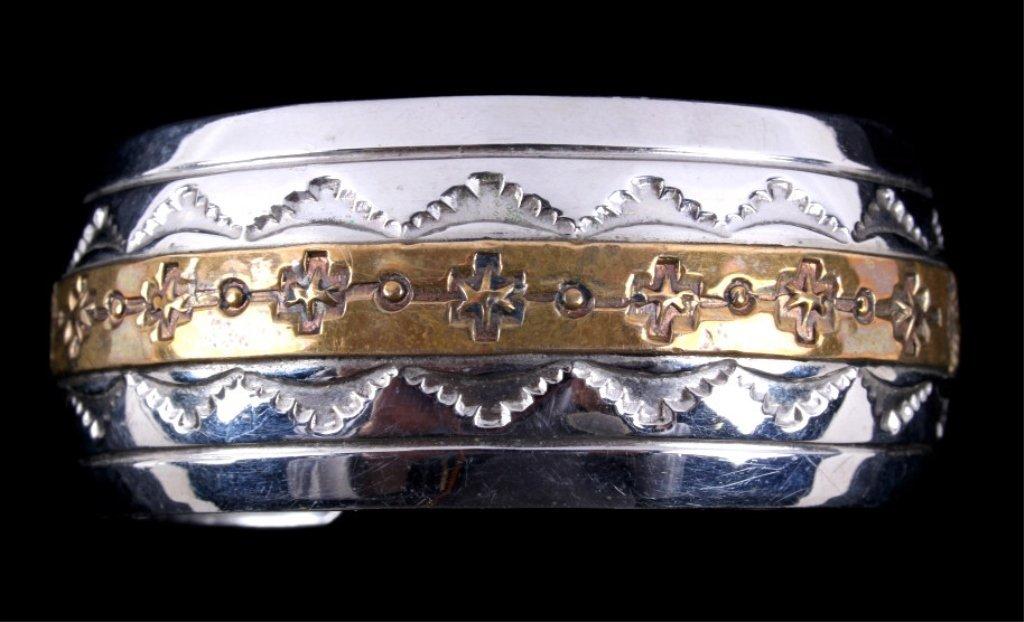 Navajo Sterling Bracelet by Thomas Francisco - 2