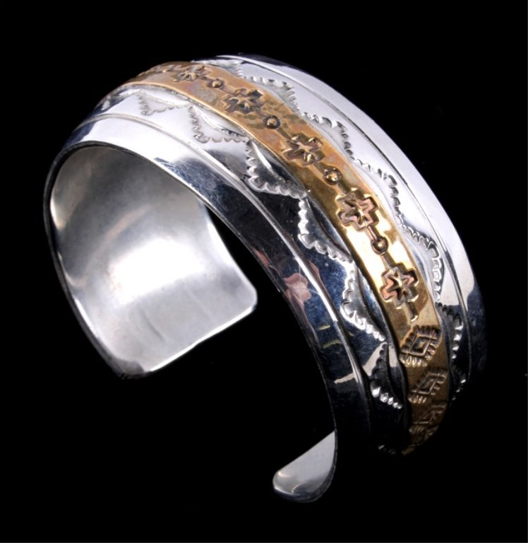 Navajo Sterling Bracelet by Thomas Francisco - 3