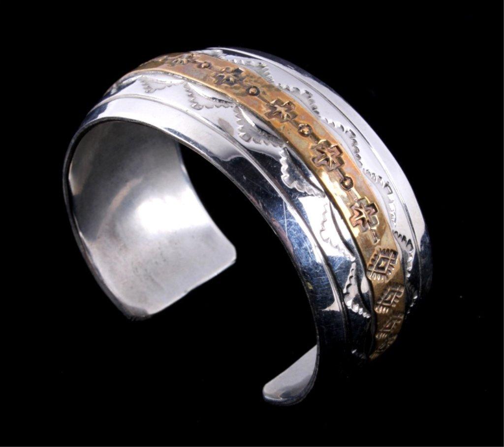 Navajo Sterling Bracelet by Thomas Francisco - 4