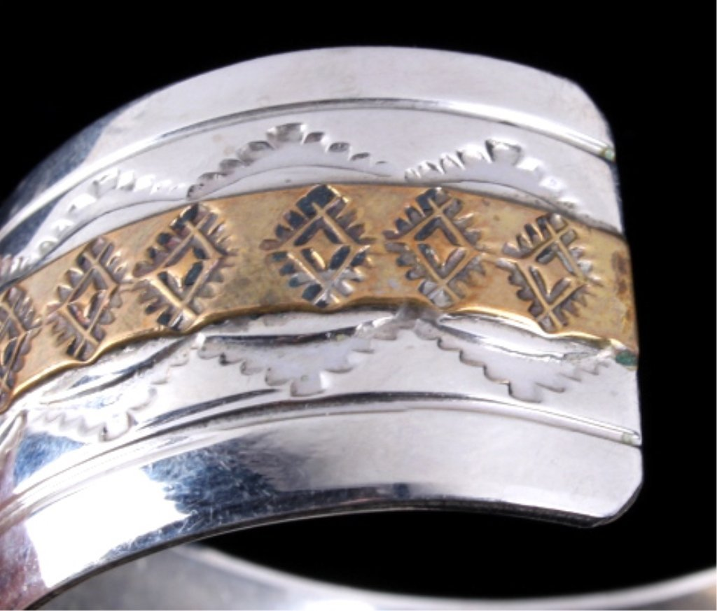 Navajo Sterling Bracelet by Thomas Francisco - 5