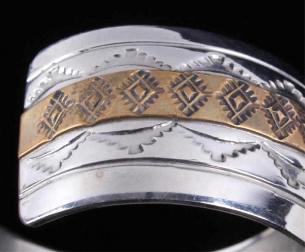 Navajo Sterling Bracelet by Thomas Francisco - 6