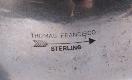 Navajo Sterling Bracelet by Thomas Francisco - 8