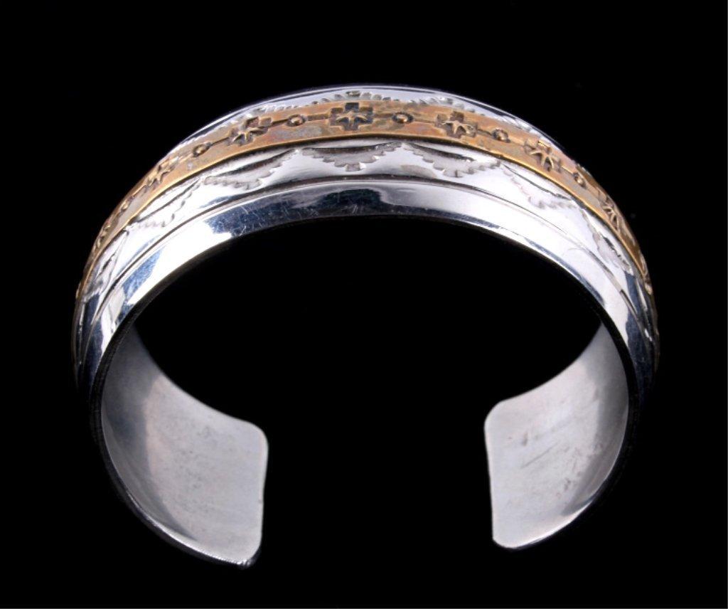 Navajo Sterling Bracelet by Thomas Francisco - 9