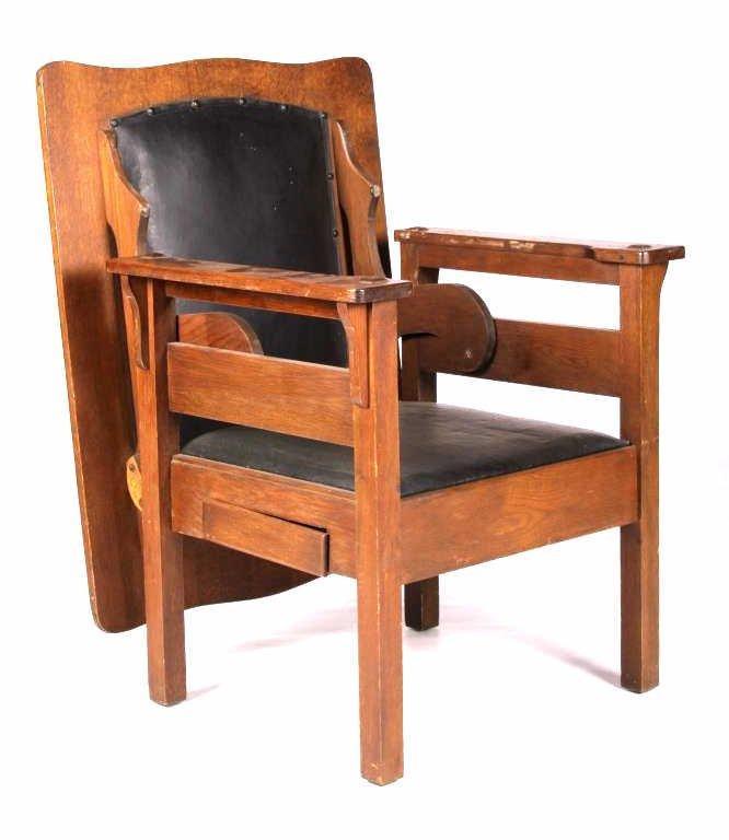 Antique Mission Oak Convertible Table Chair