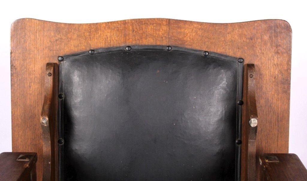 Antique Mission Oak Convertible Table Chair - 2