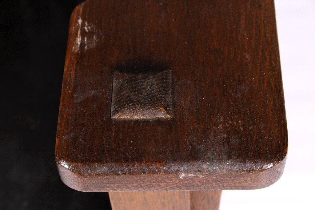 Antique Mission Oak Convertible Table Chair - 3