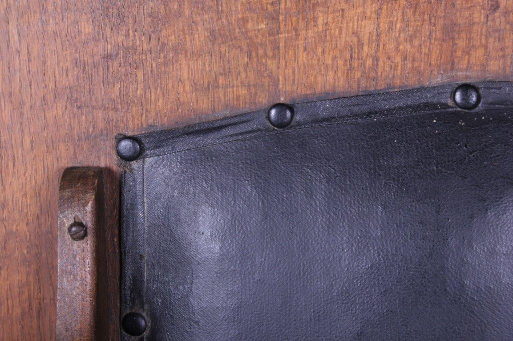Antique Mission Oak Convertible Table Chair - 4