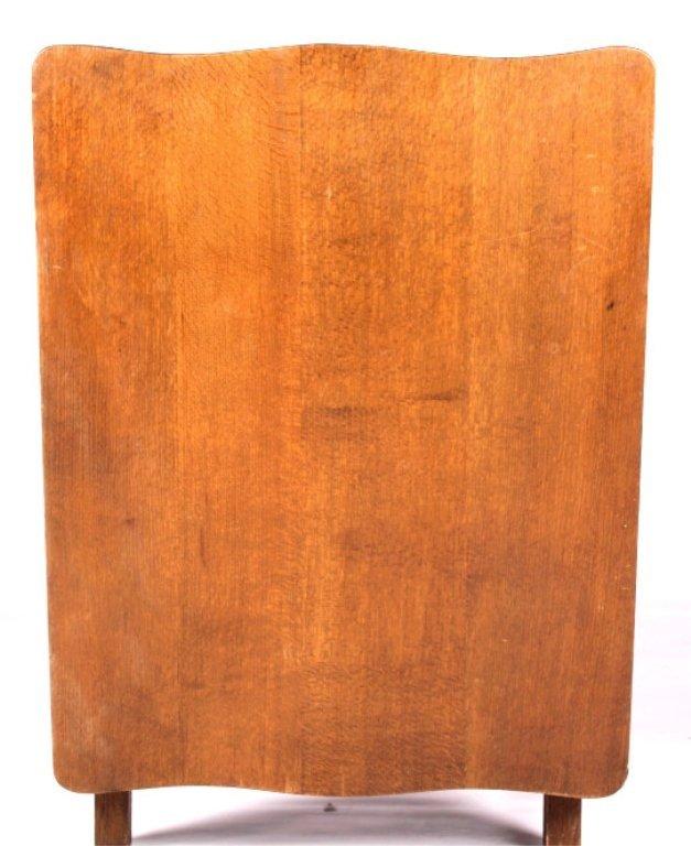 Antique Mission Oak Convertible Table Chair - 5