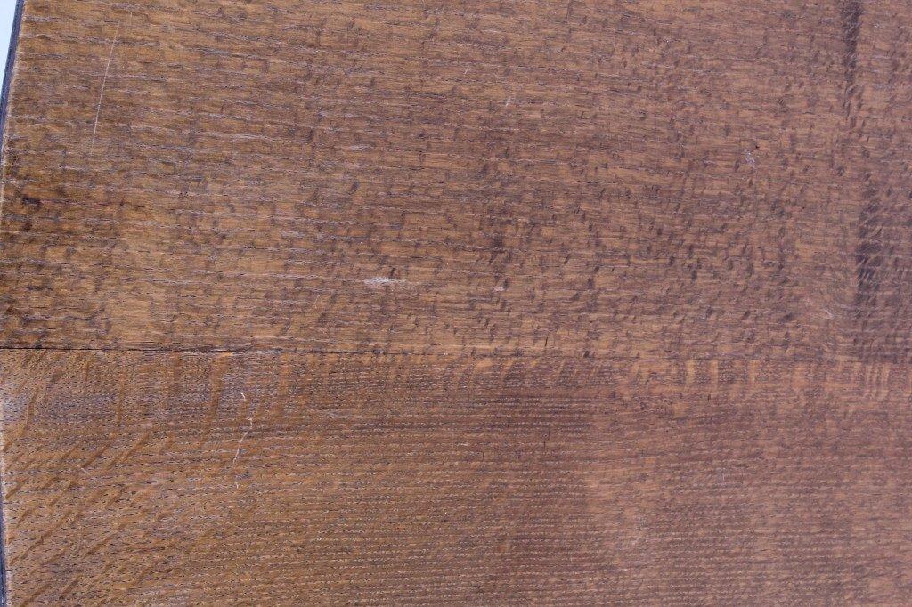 Antique Mission Oak Convertible Table Chair - 6