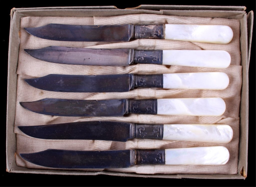 Universal LF&C Sterling & Mother of Pearl Knives
