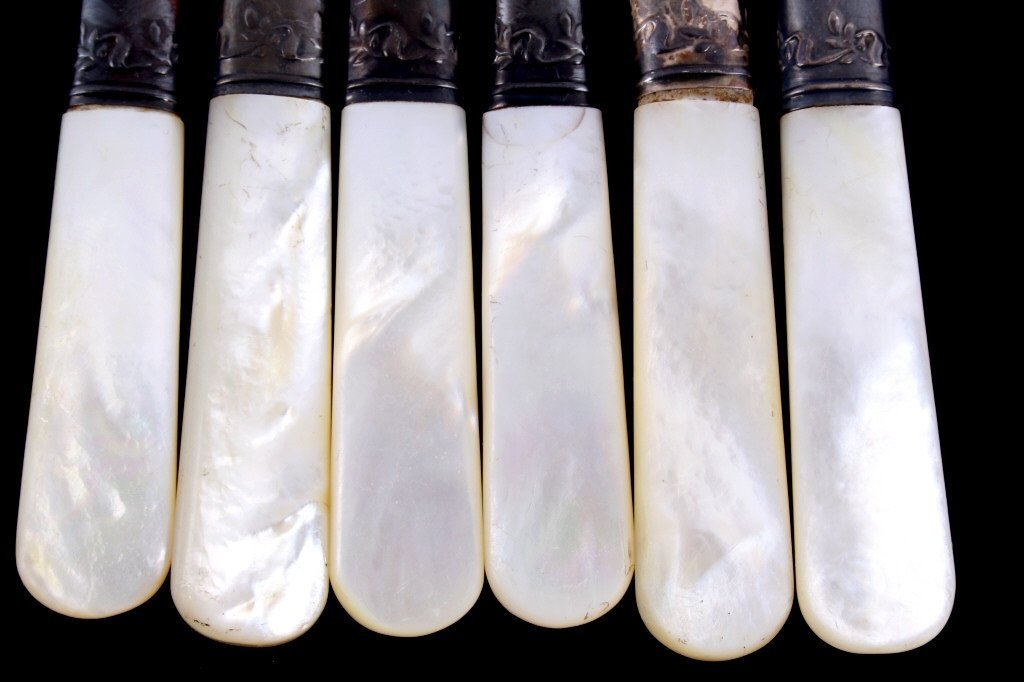 Universal LF&C Sterling & Mother of Pearl Knives - 8
