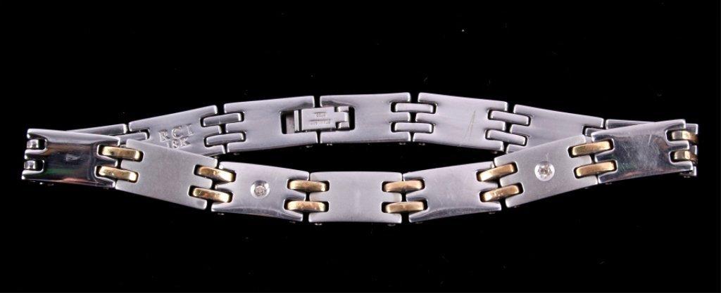 Men's 14k White & Yellow Gold Diamond RCI Bracelet