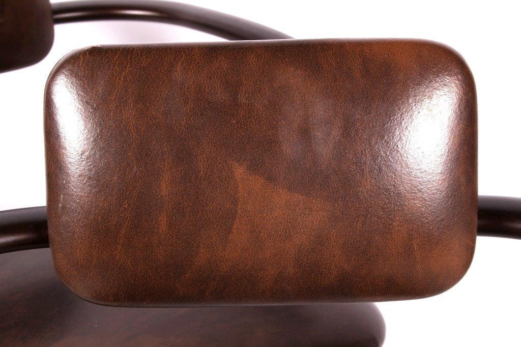 Gibo Creations Leather & Metal Bar Stool Set of 3 - 3