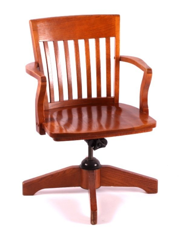 Solid Oak Mission Style Office Chair