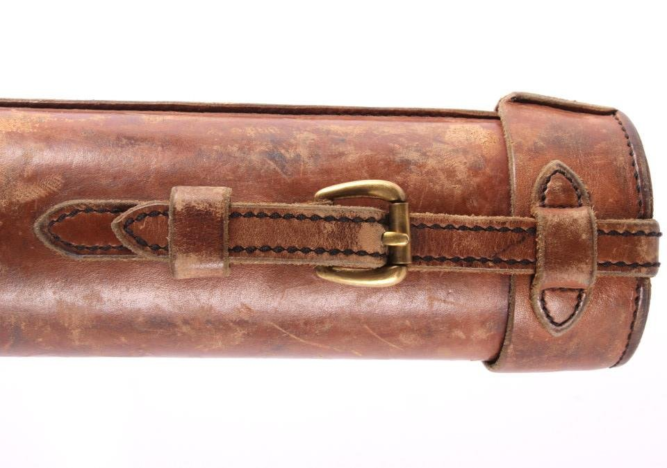 Antique Leather Fly Rod Case & Bamboo Rod - 6