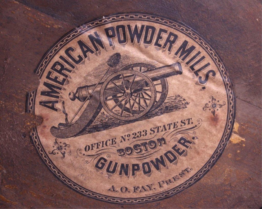 Antique 1800's Wooden Gun Powder Keg - 2