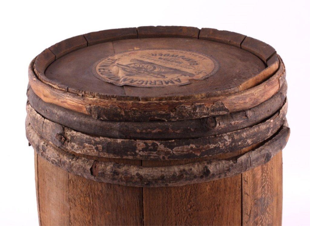 Antique 1800's Wooden Gun Powder Keg - 3