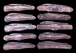 Antique Victorian Sterling Silver Pocket Knives