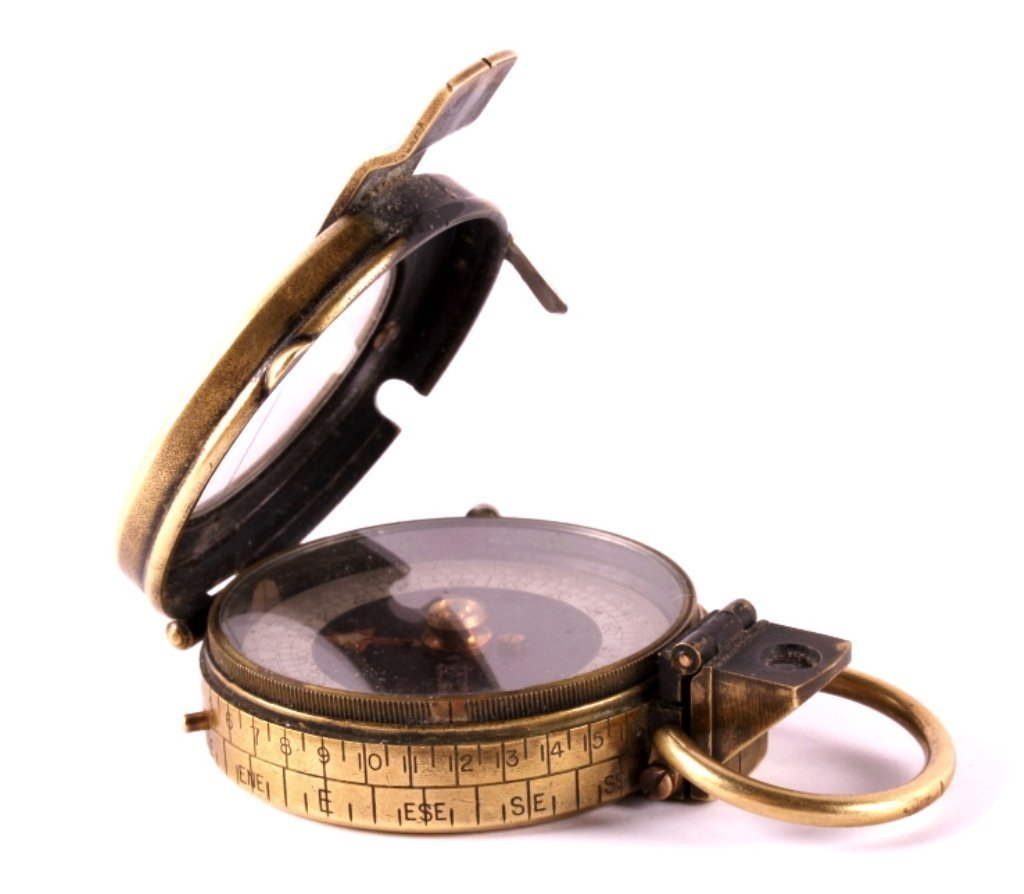 1918 WWI Brass Engineer's Compass