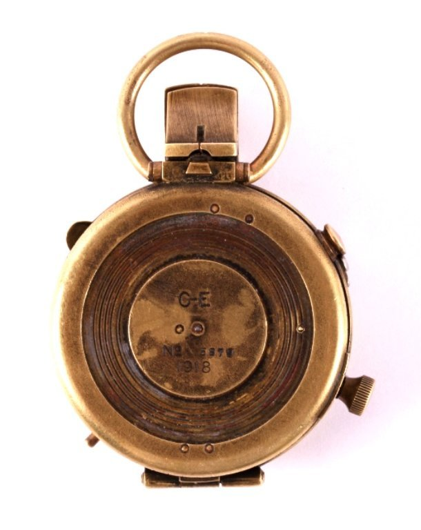 1918 WWI Brass Engineer's Compass - 2