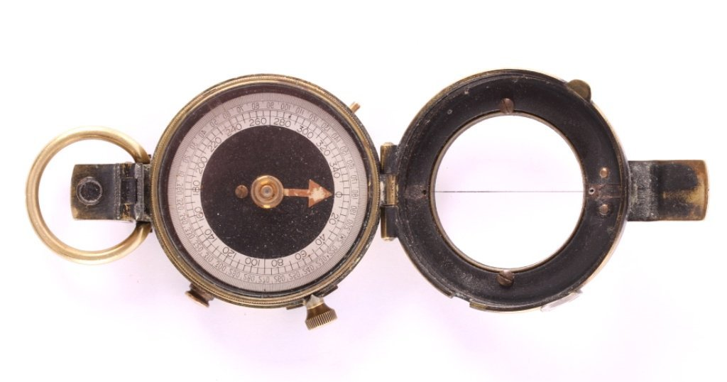 1918 WWI Brass Engineer's Compass - 5