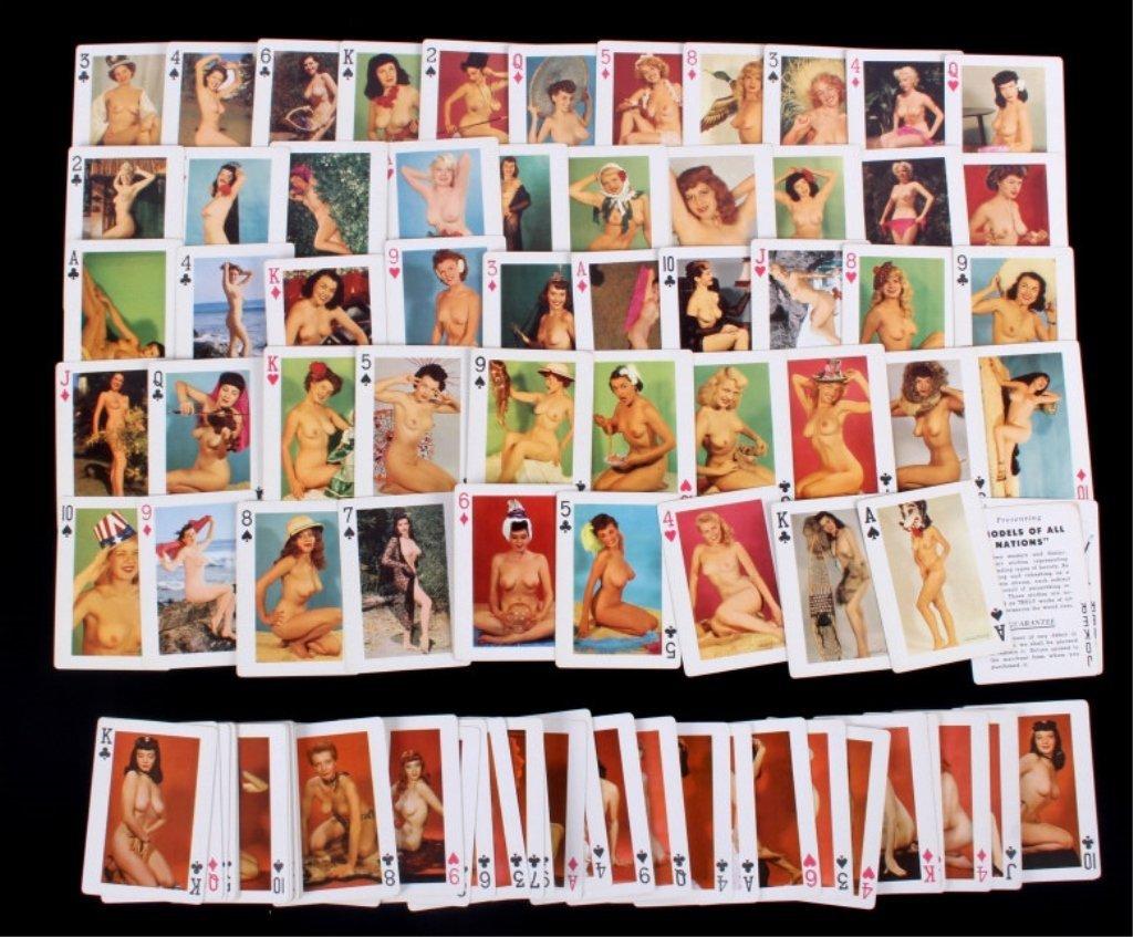 Nude Women Gambling Playing Card Sets 1930 - 3