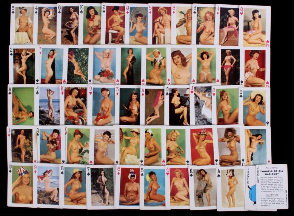 Nude Women Gambling Playing Card Sets 1930 - 5