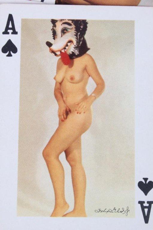 Nude Women Gambling Playing Card Sets 1930 - 6