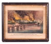 Original Currier  Ives Civil War Lithograph