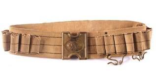 Anson Mills Dog Head Cartridge Belt Indian Wars