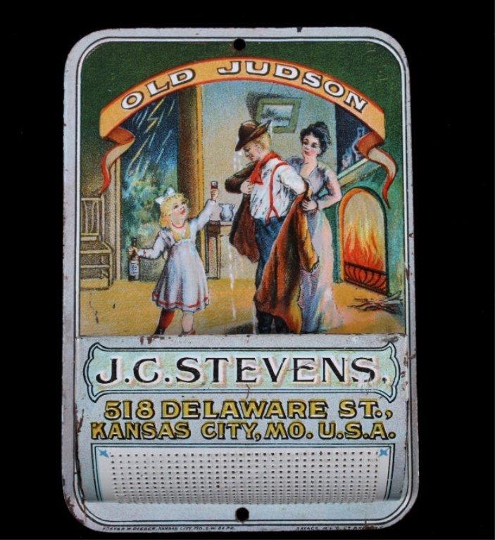 Old Judson Whiskey J.C. Stevens Match Safe