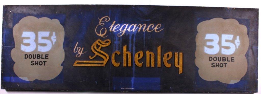 Schenley Whiskey Advertising Sign