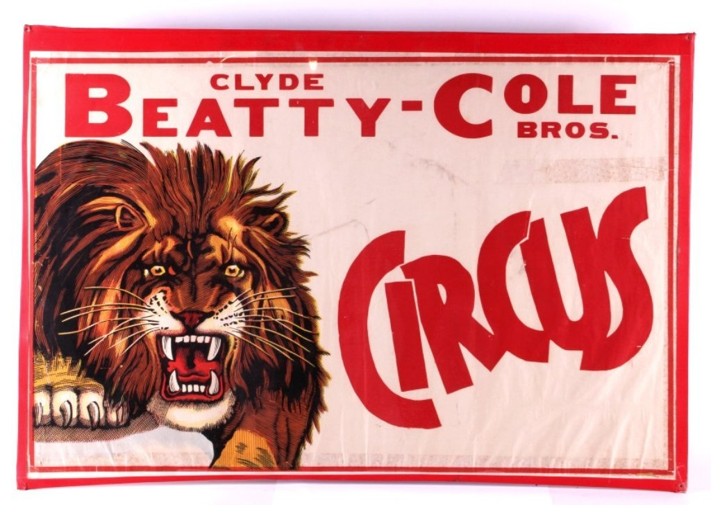 Clyde Beatty Cole Bros. Circus Poster