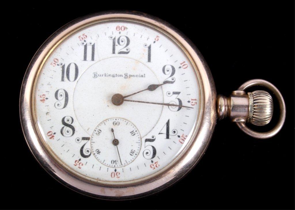Burlington Special Railroad Pocket Watch Gold