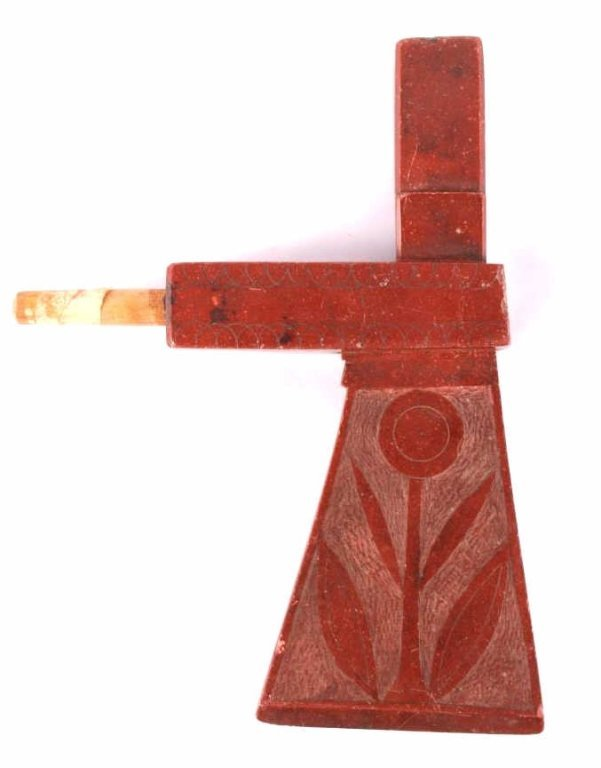 Meskwaki Museum Quality Catlinite Pipe Tomahawk