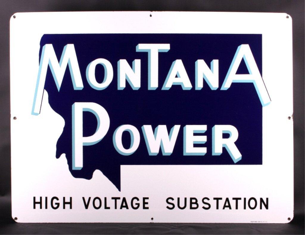 Original Montana Power Porcelain Sign