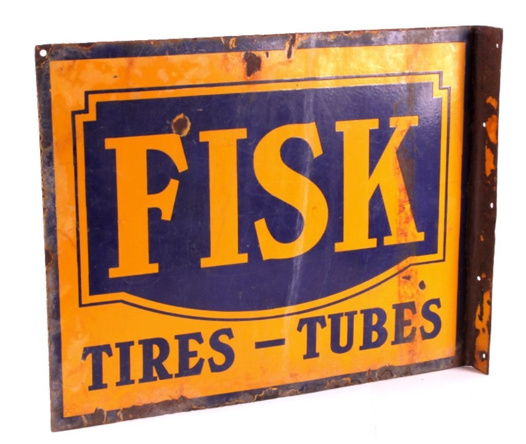Fisk Tires Double Sided Porcelain Sign