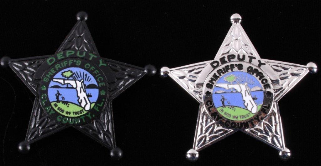 Deputy Sheriff Clay County Florida Badges (2)